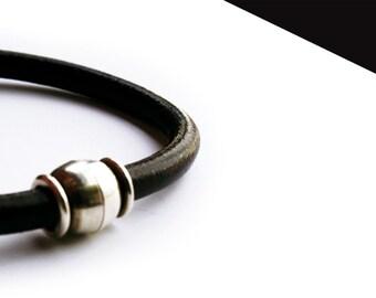 Silver plated bracelet strap.