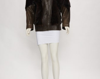 Fur bomber jacket   Etsy