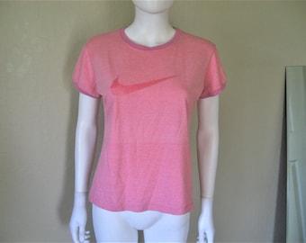 90s Pink Nike Ringer Tshirt