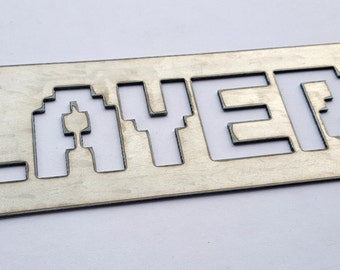 Player 2 Video Game Metal Sign