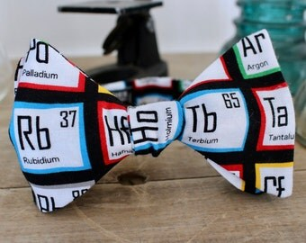 Colorful Periodic Table of Elements Bow Tie - bowtie, bowties, bow ties, mens, boys, geek, geeky chic, fun, cool, self tie, pretied, science