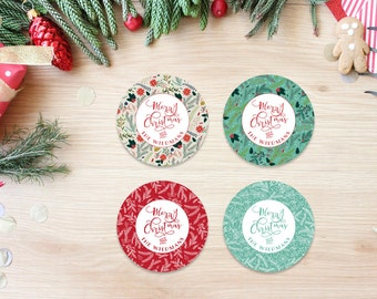 Christmas Envelope Stickers Labels - Gift Stickers - Holiday Envelope Seals - Envelope Stickers - Custom Holiday Envelope Seals
