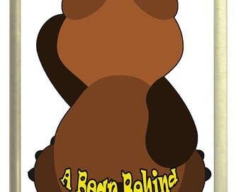A Bear Behind Fridge Magnet 7cm by 4.5cm