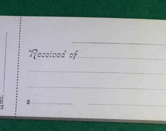 Vintage Unused Hardcover Receipt book