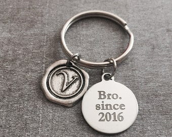 SALE, Bro since 2016, BROTHER, New Brother, Brother Keychain, Brother Keyring, Gift for Brother, Brother Gift, Worlds Best Brother, Gifts