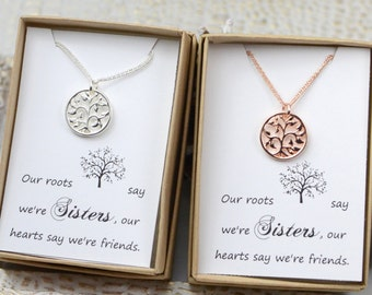 Sister set - sister necklaces for 2 - sister gift - sister jewelry - unique gifts for sisters - gifts for sister - sister wedding
