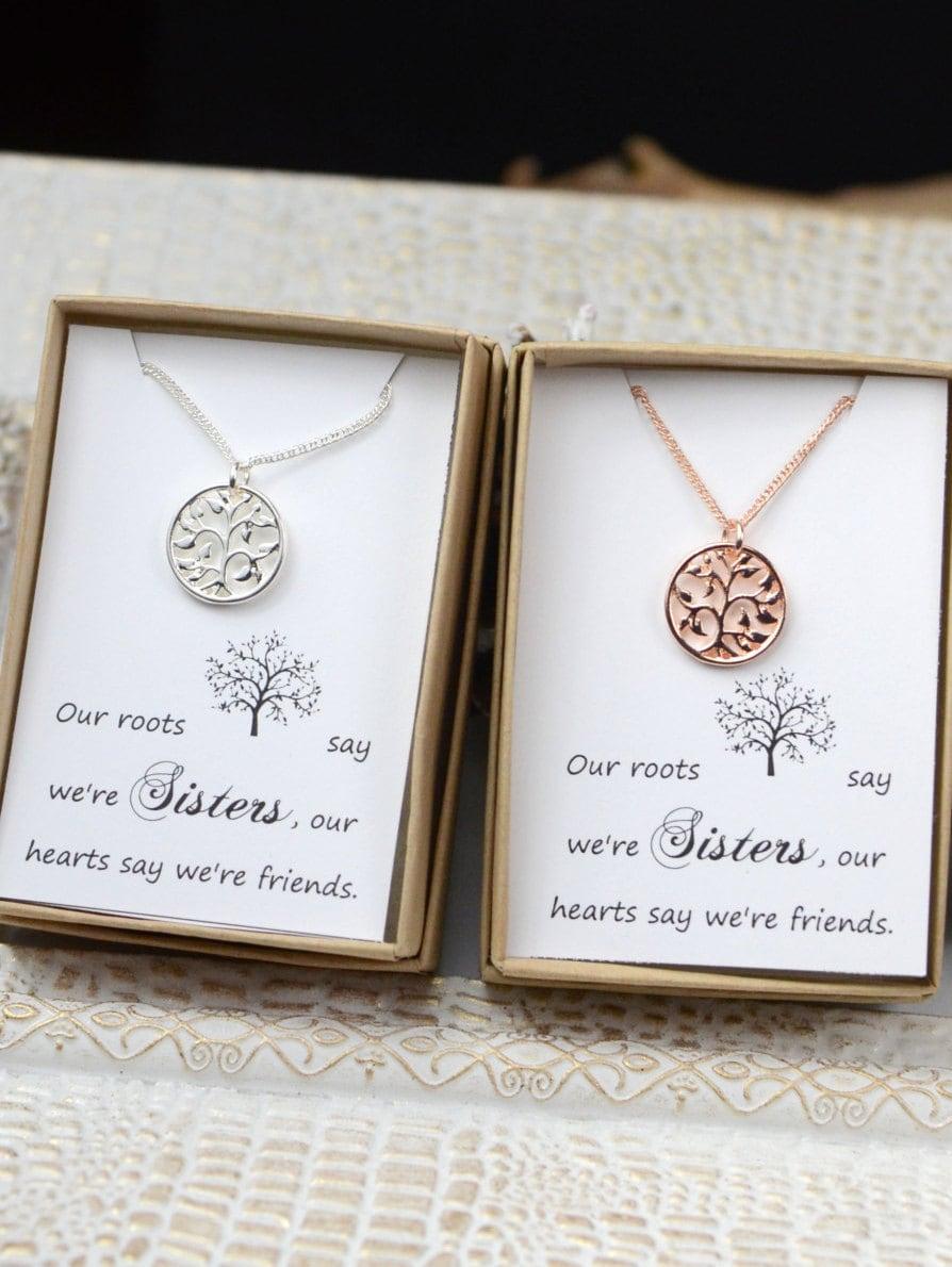 Sister set sister necklaces for 2 sister gift sister for Regalos para hermanos en boda