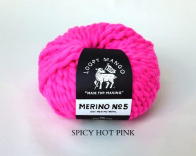 Loopy Mango - Merino No. 5 - Spicy Hot Pink