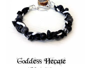 Goddess Hecate Ritual Bracelet - hekate pagan witch witchcraft wicca wiccan crossroads magic magick wheel