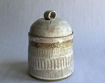 rustic jar with lid
