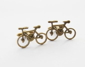 Cyclist Cufflinks, Bike Cufflinks, Bicycle Cufflinks, Bike Gifts, Cyclist Gifts, Vintage Bike Cufflinks, Biking Cufflinks, Groomsmen Gifts