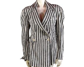 Vintage Issey Miyake Stripped Blazer - 1980s