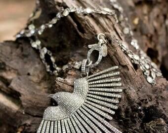 Diamond Bird Pendant