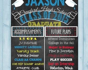 Graduation Chalkboard Poster High School Graduation College Graduation Poster