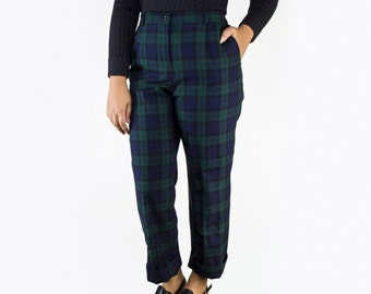 Vintage Pendleton Wool Plaid High Waist Pants