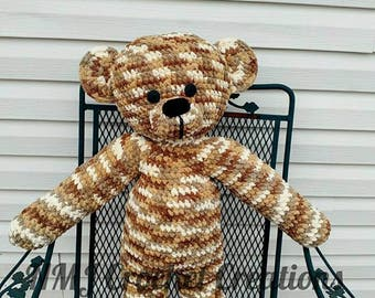 huge stuffed teddy bear, Crochet Teddy bear, Crochet