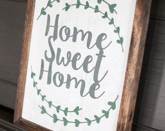 Wall Hanging Home Sweet Home Wooden Sign