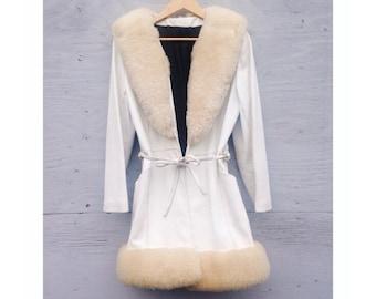 White leather jacket | Etsy