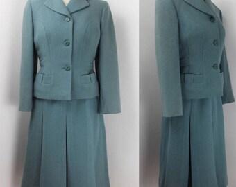 Original 1940's Hebe Sports Wool Suit - UK 8