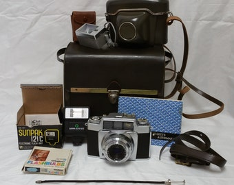 Vintage AGFA Ambi Silette Automatic SLE Outfit