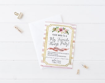 My Favorite Things Party Invitation - PRINTABLE