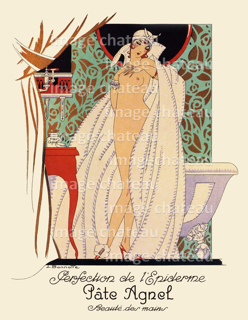 art deco french poster digital printable download