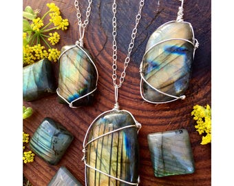Magical Labradorite Sterling Silver Necklaces