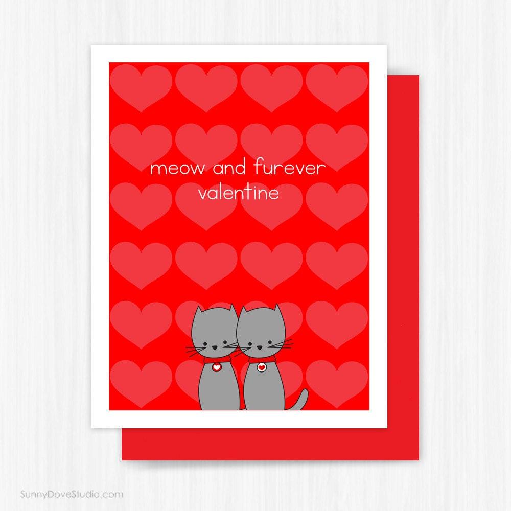 Cat valentine card – Valentines Cards Cute