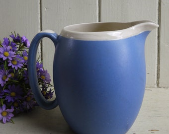 Vintage Blue and White Jug - Made in Devon England