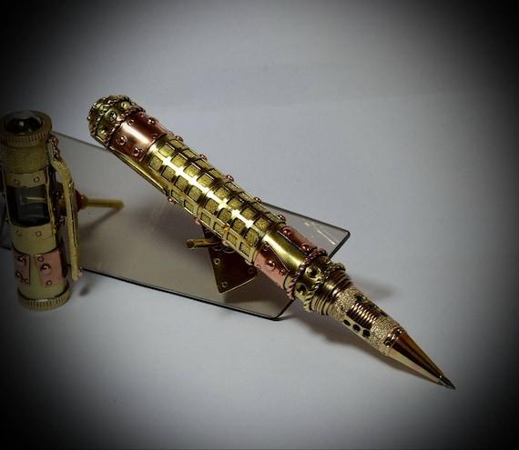 """Steampunk ballpoint pen """" Flashback Biro Garnet """" , gift set. by MagenKening steampunk buy now online"""
