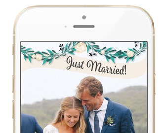 Floral Wedding Geofilter - FULLY CUSTOMIZABLE!