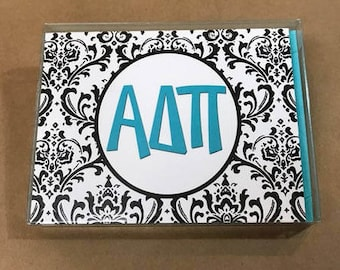 Alpha Delta Pi Damask Notecards