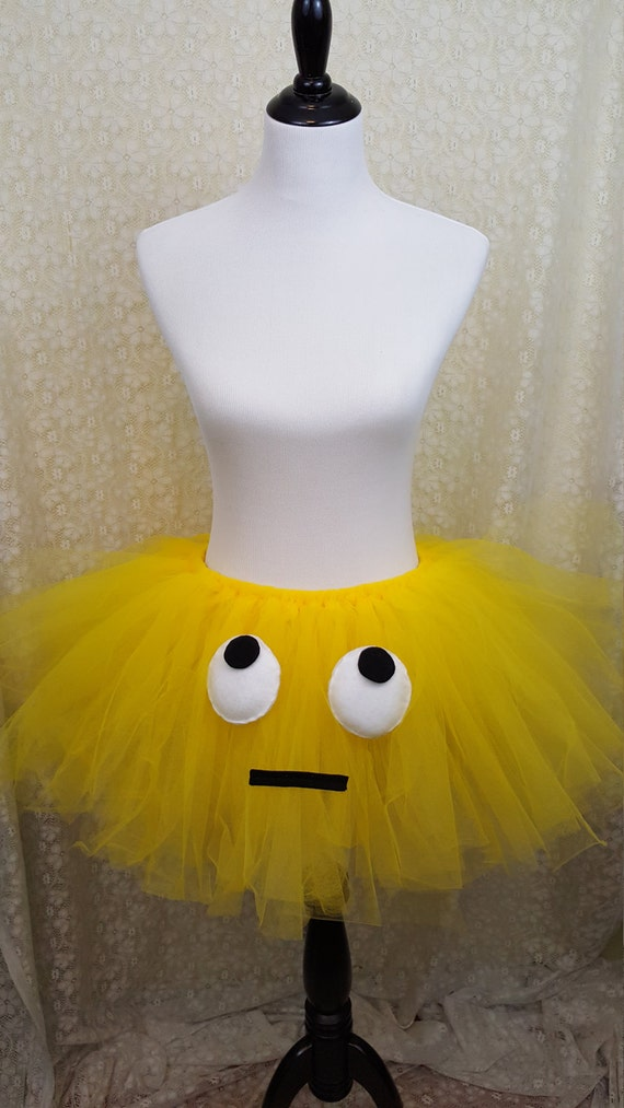 Eye Rolling Emoji Girls Tutu Skirt