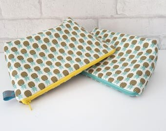 Pineapple Makeup Bag / Cosmetic Bag