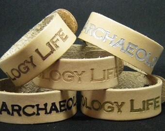 Archaeology Life Leather bracelet