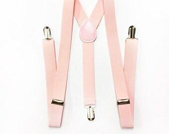 mens suspenders, blush pink suspenders, soft pink suspenders, blush pink suspenders, mens suspenders, groomsmen, pastel pink suspenders