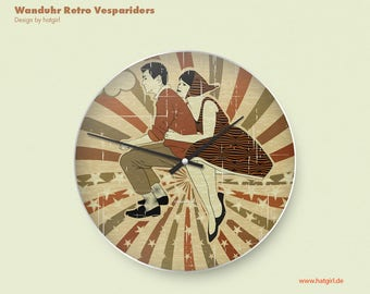 Retro kitchen clock vintage Vespa