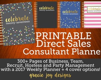 PRINTABLE Direct Sales Consultant Planner | Digital Planner 2017 Consultant Organizer 31 Hostess Management Planner Direct Sales Planner