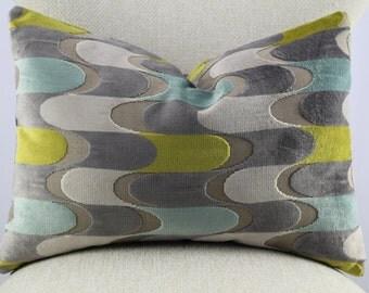 Cut geometric velvet,pillow cover,throw pillow,accent pillow,decorative pillow,lumbar pillow,same fabric front and back.
