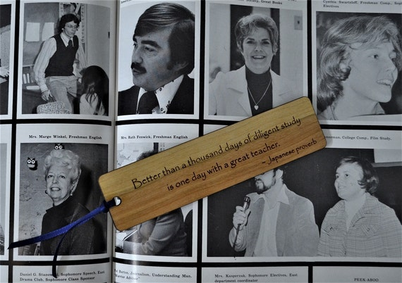 EDUCATION/TEACHER BOOKMARKS: We only have one quote now, but more are coming! Each bookmark is engraved on cherry, and can be personalized!