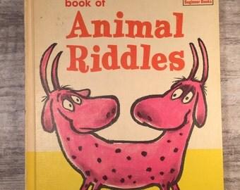 Book of Animal Riddles, 1964, Bennett Cerf, illustrated by Roy McKie, Dr. Seuss Beginner Books, Random House, Vintage Childrens Books