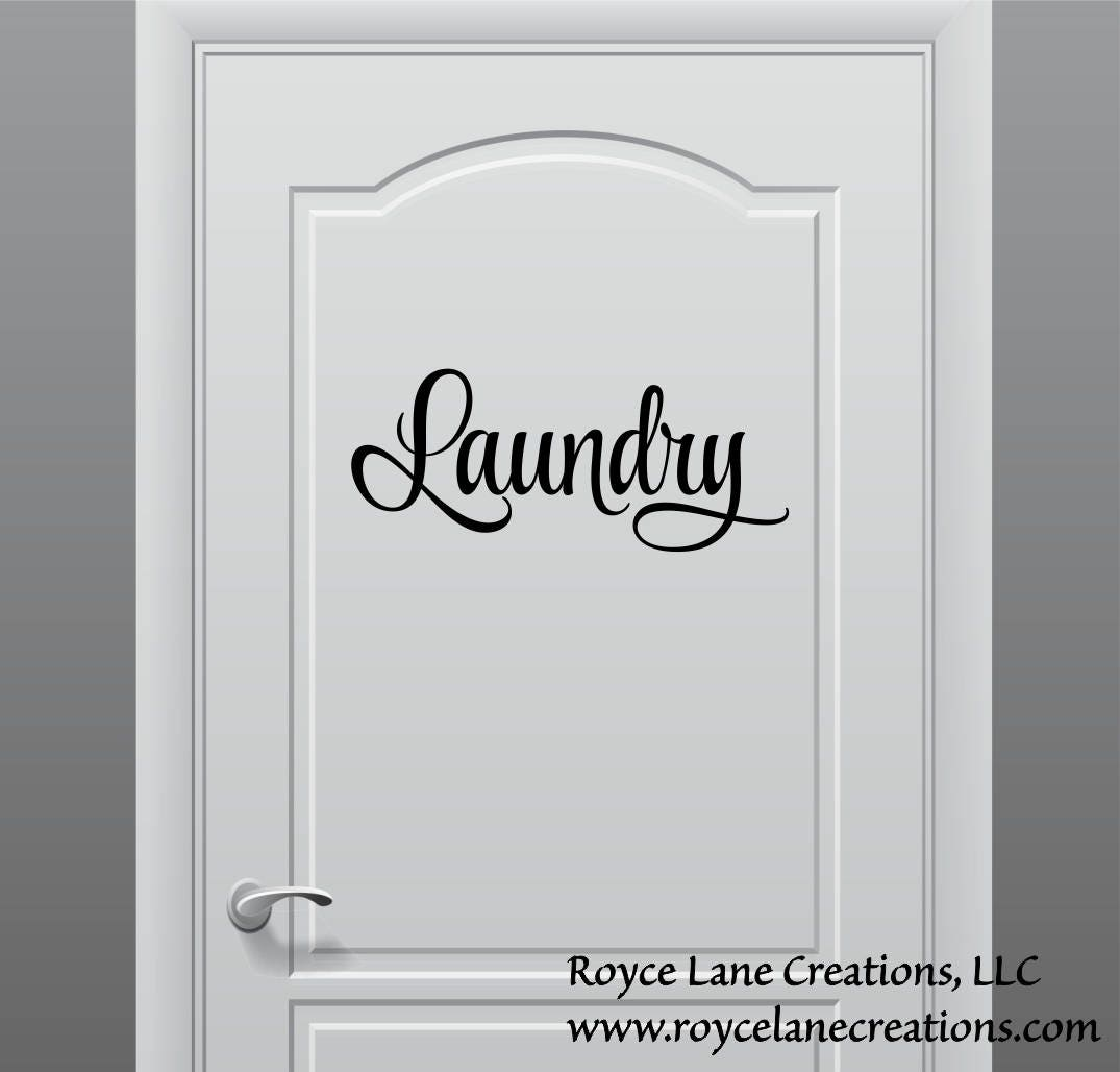Laundry Door Decal Or Wall Decal Laundry Sign The Laundry Room - Wall decals laundry room