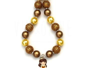 Chunky Necklace - Bubblegum Necklace - Princess Jewelry - Princess Necklace - Princess Party - Princess Outfit - Princess Birthday