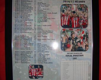 Sheffield United League One champions 2016-17 - souvenir print