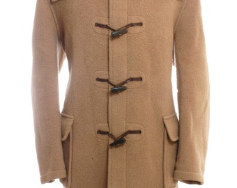 Vintage Gloverall Light Brown Duffle Coat L - www.brickvintage.com