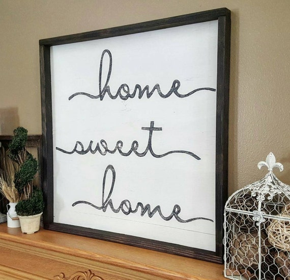 "Home Sweet Home Sign 24"" x 24""  - Home Sweet Home Wood Sign - Wall Decor"