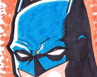 """Batman artist trading card ACEO 2 1/2"""" x 3 1/2"""""""