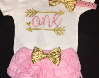 Baby Girl 1st Birthday Outfit, Baby Girl First Birthday Outfit, Girl Number 1 Birthday Outfit, Girl 1st Birthday Outfit, Girl One Outfit