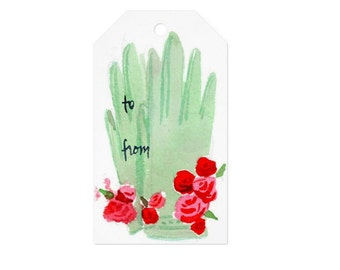 10 Christmas Gift Tags: Mint Gloves