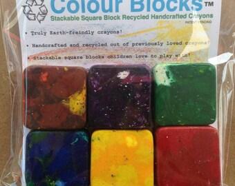Square Block Crayons